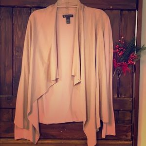 Beautiful, light pink, suede front blazer